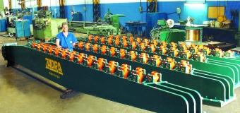 Colunas para nivelador de gavetas da Prensa para laminados de madeira 450 x 750 x 8200 mm 4800 kg cada.